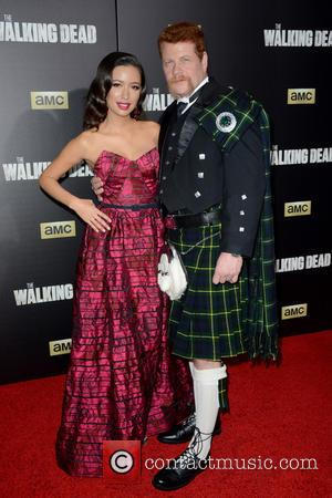Christian Serratos , Michael Cudlitz - 'The Walking Dead' Season Six Premiere and Ultimate Fan Event at Madison Square Garden...