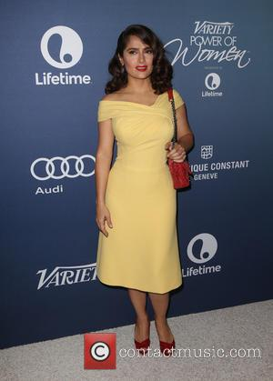 Salma Hayek Pinault - Celebrities arrive at Variety's Power Of Women luncheon at Beverly Wilshire Four Seasons Hotel - Beverly...
