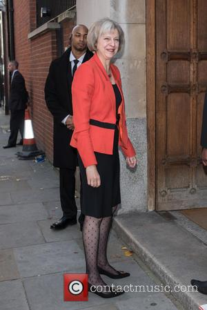 Theresa May - Women in the World Summit held at Cadogan Hall - Arrivals. - London, United Kingdom - Friday...