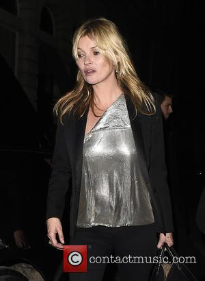 Kate Moss - Kate Moss seen leaving Edition Hotel after celebrating her daughter's Lila Grace Birthday Party. London. UK -...