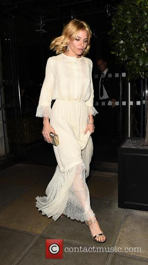 Sienna Miller - Celebrities leaving Edition Hotel heading to Eva Cavalli - VIP birthday party at One Mayfair. London. UK...