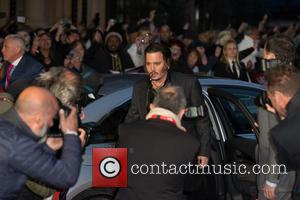 Johnny Depp - BFI London Film Festival Virgin Atlantic Gala of 'Black Mass' - Arrivals at Odeon Leicester Square -...