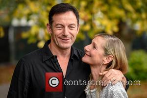 Jason Isaacs , Lesley Sharp - Cheltenham Literature Festival - Day 10 at Cheltenham Literature Festival - Cheltenham, United Kingdom...