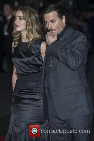 Amber Heard , Johnny Depp - BFI London Film Festival - Black Mass premiere held at the Odeon Cinema -...