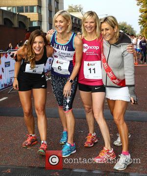 Charlie Webster, Jenni Falconer, Jo Whiley , Emily Maitlis - Royal Parks Foundation Half Marathon 2015 in London's Hyde Park...