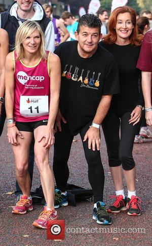 Jo Whiley, John Altman , Diana Marchmant - Royal Parks Foundation Half Marathon 2015 in London's Hyde Park at Hyde...