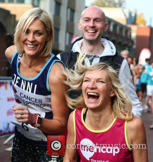 Jenni Falconer , Jo Whiley - Royal Parks Foundation Half Marathon 2015 in London's Hyde Park at Hyde Park -...