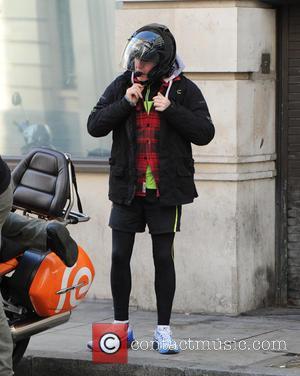 Chris Evans - Chris Evans seen leaving the BBC Radio 2 studios - London, United Kingdom - Monday 12th October...