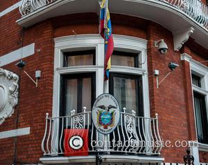 View - No police guard outside the Ecuadorian Embassy in Knightsbridge. The controversial round-the-clock police guard estimated to have cost...