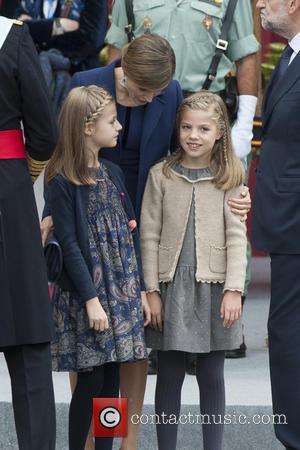 Queen Letizia, Prince Leonor , Prince Sofia - Spain's King Felipe, Queen Letizia , and their daughters Princesses Leonor...