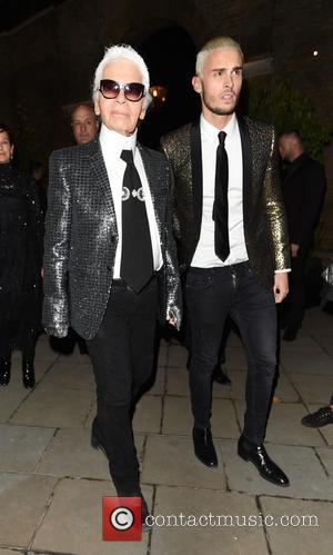 Karl Lagerfeld - Celebrities attend the Chanel Mademoiselle Prive party held at the Saatchi Gallery - London, United Kingdom -...