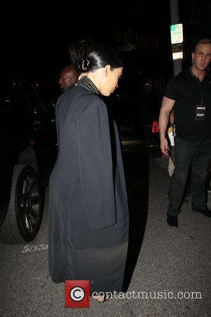 Kim Kardashian - Members of the Kardashian family, all dressed in black, arrive at Ysabel for Cosmopolitan's 50th Birthday Celebration...