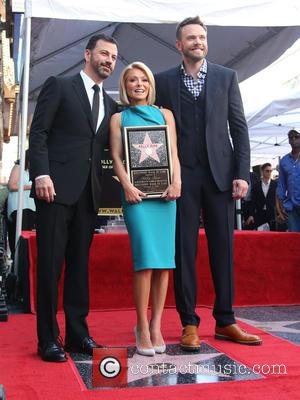 Jimmy Kimmel, Kelly Ripa , Joel McHale - Kelly Ripa honored with star on the Hollywood Walk Of Fame at...