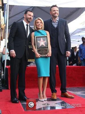 Jimmy Kimmel, Kelly Ripa and Joel Mchale