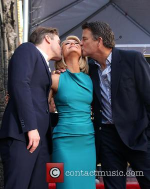 Matt Bomer, Kelly Ripa , Ted McGinley - Kelly Ripa honored with star on the Hollywood Walk Of Fame at...