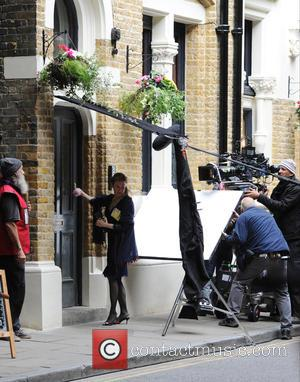 Renee Zellweger - Renee Zellweger filming a scene for 'Bridget Jones's Baby' - London, United Kingdom - Tuesday 13th October...