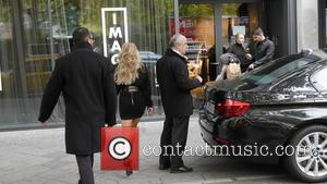 Sylvie Meis , Sylvie van der Vaart - Sylvie Meis arriving at Parker Bowles for an interview and a presentation...
