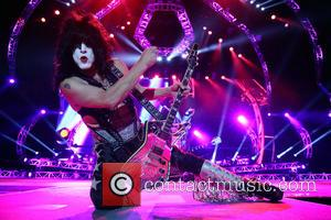 kiss , paul stanley - KISS performing live on stage at the Brisbane Entertainment Centre - Brisbane, Australia - Tuesday...
