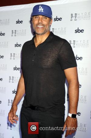 Rick Fox - Former NBA star Rick Fox takes over the DJ booth during Lost Angels Industry Night at Hyde...