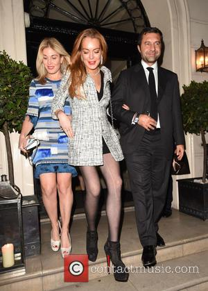 Lindsay Lohan , Giorgio Damiani - Damiani VIP event at Morton's Club - London, United Kingdom - Tuesday 13th October...