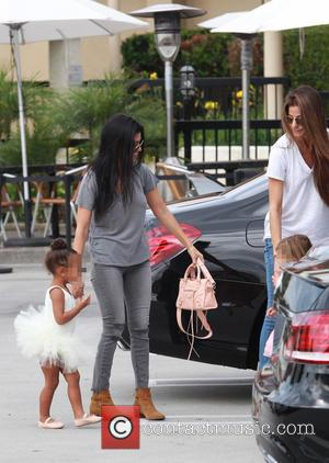 Kourtney Kardashian, Nori, North West , Penelope Scotland Disick - Kourtney Kardashian takes Penelope and Nori to ballet class in...