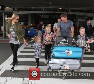 Steven Gerrard, Alex Gerrard, Lilly-ella Gerrard, Lourdes Gerrard and Lexie Gerrard