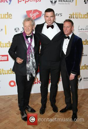 Sir Ian McKellen, Keegan Hirst , Antony Cotton - The Attitude Awards 2015 held Banqueting House - Arrivals - London,...