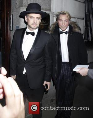 Boy George , Marilyn - Attitude Magazine Awards at the Banqueting House - Departures - London, United Kingdom - Wednesday...