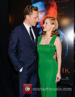 Tom Hiddleston and Jessica Chastain