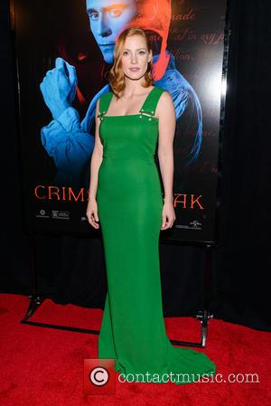 Jessica Chastain - Legendary & Universal Pictures premiere of 'Crimson Peak' at the AMC Loews Lincoln Square - Red Carpet...