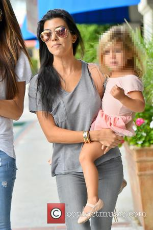 Kourtney Kardashian , Penelope Disick - kourtney Kardashian takes her daughter and north west to dance class - Los Angeles,...