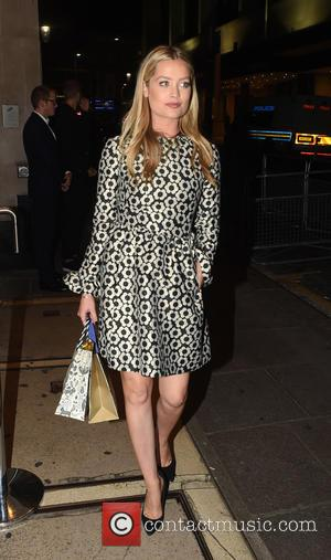 Laura Whitmore - Guests arrive at Ant and Dec's 40th Birthday Party held at Kensington Roof Gardens in London -...