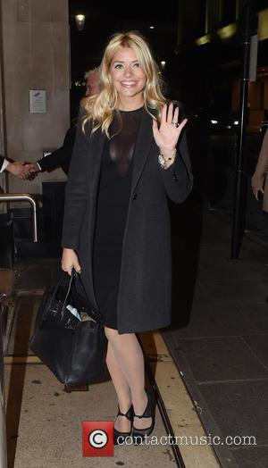 Holly Willoughby - Guests arrive at Ant and Dec's 40th Birthday Party held at Kensington Roof Gardens in London -...