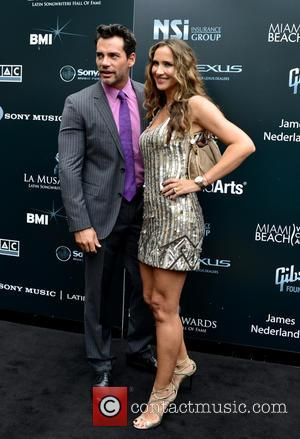 Cristian de La Fuente , Angélica Castro - Latin Songwriters Hall of Fame La Musa Awards at The Fillmore Miami...