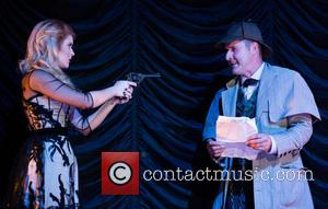 Renee Olstead , David Arquette - Celebrities attend the opening night of Sir Arthur Conan Doyle's 'Sherlock Holmes' at the...