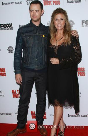 Colin Hanks and Rita Wilson