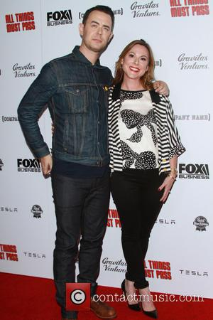 Colin Hanks , wife Samantha Bryant - All Things Must Pass Premiere held at Harmony Gold Theatre at Harmony Gold...