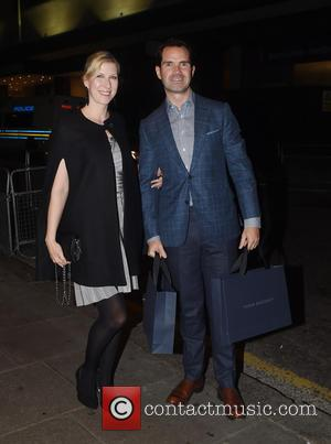 Jimmy Carr - Guests arrive at Ant and Dec's 40th Birthday Party held at Kensington Roof Gardens in London -...
