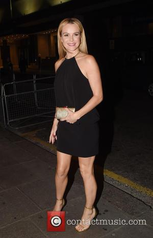 Amanda Holden - Guests arrive at Ant and Dec's 40th Birthday Party held at Kensington Roof Gardens in London -...