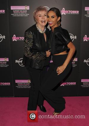 Gloria Hunniford , Alesha Dixon - Hard Rock Cafe's Pinktober gala at The Dorchester - Arrivals - London, United Kingdom...