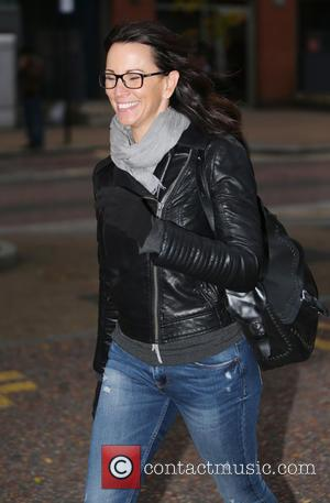 Andrea McLean - Andrea McLean make up free outside ITV Studios - London, United Kingdom - Friday 16th October 2015