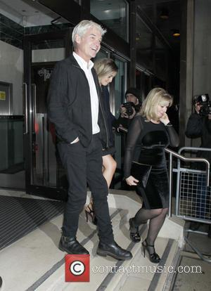 Phillip Schofield - Ant & Dec's 40th birthday party held at Kensington Roof Gardens - Departures - London, United Kingdom...