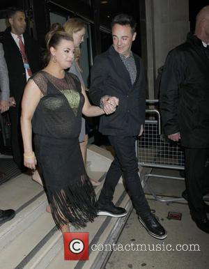 Anthony McPartlin , Lisa Armstrong - Ant & Dec's 40th birthday party held at Kensington Roof Gardens - Departures -...