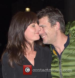 Davina McCall , Matthew Robertson - Ant & Dec's 40th birthday party held at Kensington Roof Gardens - Departures at...