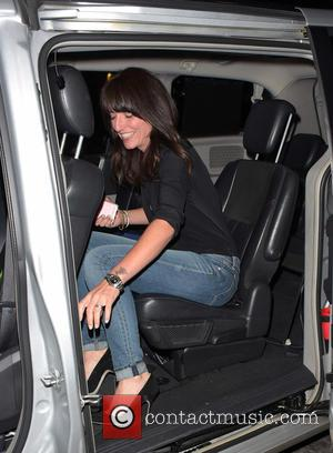 Davina McCall - Ant & Dec's 40th birthday party held at Kensington Roof Gardens - Departures at kensington - London,...