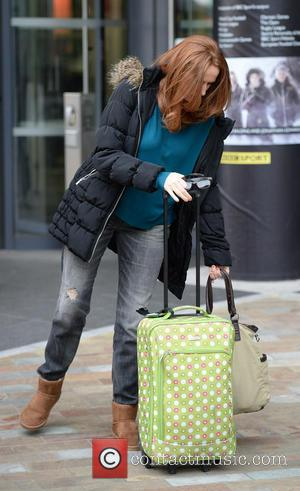 Catherine Tate - Catherine Tate leaves the BBC Breakfast Studio's at Media City Manchester, after appearing on BBC Breakfast to...