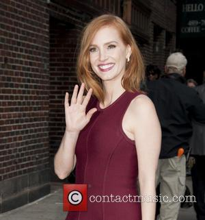 Jessica Chastain, The Late Show With David Letterman, Ed Sullivan Theatre