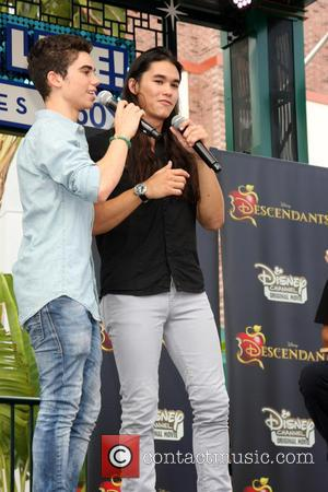 Cameron Boyce , Booboo Stewart - 'Descendants' perform and join fans at Downtown Disney at Disneyland Resort at Downtown Disney,...