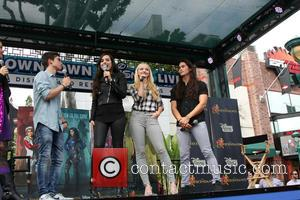 Cameron Boyce, Sofia Carson, Dove Cameron , Booboo Stewart - 'Descendants' perform and join fans at Downtown Disney at Disneyland...