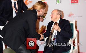 David Garrett , Menahem Pressler - Echo Klassik 2015 awards at Schauspielhaus - Press room - Berlin, Germany - Sunday...
